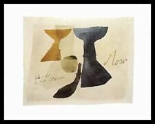 Julius Bissier 26661 Moro 1961 poster immagine stampa d'arte nel quadro in alluminio in Nero