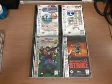 Sega Saturn lot of 4 complete games-Soviet Strike-Virtua Fighter 2-Pinball-9th