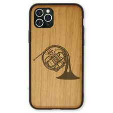 Wood Case Compatible with iPhone 11, 11 Pro, 11 Pro Max - French Horn