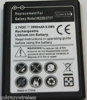 New Battery Replacement For Samsung Galaxy Note i9220 N7000 LTE i717 2600mAHh