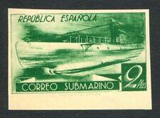 ESPAÑA - AÑO 1938 - EDIFIL 776ccds - CORREO SUBMARINO - 2 PTAS VERDE AMARILLENTO