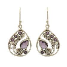 Amethyst 925 Sterling Silver  Beautiful Women's Dangle Earrings For GIFT