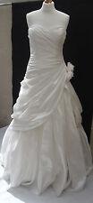 Mori Lee by Madeline Gardner Wedding Dress strapless laced back size 10 -12