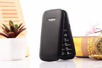 "Unlocked Old Man Flip Mobile Phone 2.6"" Dual SIM GSM Big Push-Button Phone Cheap"