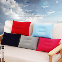 Soft Blow Up Head Beach Pillow Car Airplane Travel Cushion Inflatable Camping
