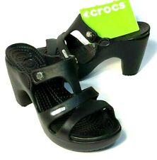 Crocs CYPRUS V Heels sandals Size 11 Black/Black NEW