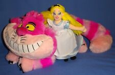 "Disney Store plush Cheshire Cat 18""-seal-Alice in Wonderland doll-beanbag-9"" Lot"
