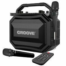 Portable Karaoke Machine Party Box Bluetooth/AUX/USB/SD Card Connectivity 2 Mics