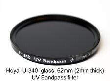 Hoya U-340 62mm x 2mm thick UV Pass Ultraviolet Dual Band IR Filter