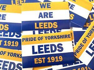 24 x Leeds United Utd Stickers LUFC Yorkshire  Flag Scarf Shirt Badge
