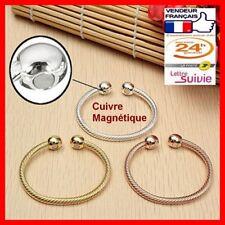 Bracelet magnétique câble cuivre avec aimants