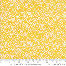 By 1/2 Yard ~ Moda Fabric Kate Spain Early Bird Plume Honey Geometric Clamshells