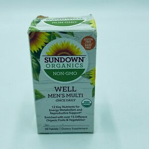 Sundown Organic Well Men Multi Vitamin Once Daily 30 Tablets New Exp 2/21+