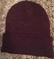Burgundy Mens Hat Beanie Winter Cedarwood