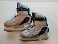 Nike Flexposite Womens Ice Hockey Skates Gray Adjustable High Lace Up Size 10