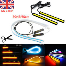 2X Sequential Car LED Strip Lights Turn Signal Indicator DRL Daytime RunningLamp