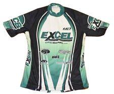 Louis Girneau Mens Cycling Jersey Green Short Sleeve Half Zipper Size Large