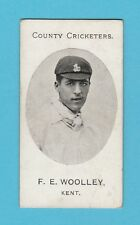 CRICKET - TADDY & CO. - VERY RARE CRICKET CARD -  WOOLLEY  OF  KENT  -  1907