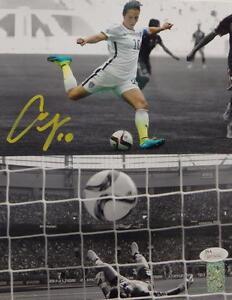 Carli Lloyd Autographed *Yellow Team USA 8x10 Dual Shot Photo- JSA W Auth