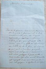 1861 MALAPOLITICA IN PIEMONTE PER LE ELEZIONI ITALIANE DEL 1861. AVIGLIANA. RARA