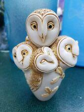 Harmony Kingdom birds nice 4 Owl owls Event Trinket Box Figurine leafs