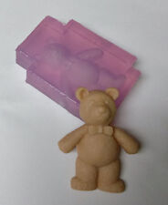 Bow Tie Teddy Bear One Piece Clear Silicone Fondant Cake Mold Baking Mould