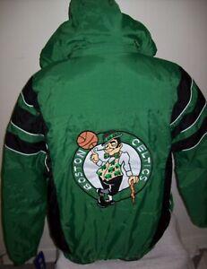 BOSTON CELTICS NBA Starter Hooded Half Zip Pullover Jacket S M LG XL 2X GREEN