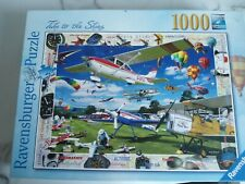 """Ravensburger 1000 piece jigsaw puzzle """"Take to the Skies"""" very good condition"""