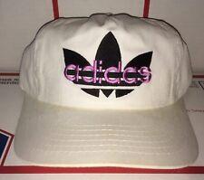 vintage ADIDAS logo Snapback Hat 1980s 1990s Shoe Sports run DMC skateboard NYC