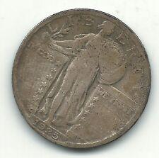 Vintage Better Grade 1925 P Liberty Standing Silver Quarter-Jul598