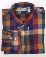 LL BEAN Shirt 2XLT Flannel NORTHWOODS Checked MULTICOLOR Cotton PLAID Tall MENS*