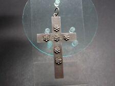 Altes großes Silber Kreuz Anhänger Religion (18318)