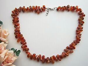 Natural Multicoloured Free-form Moonstone Gem-stones Beaded Necklace.