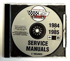 1984 85 CORVETTE CD SHOP SERVICE REPAIR MANUAL ENGINE DRIVE TRAIN MECHANICAL & M