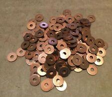 """Qty 100 x COPPER WASHERS OD 8.5 mm (5/16"""") ID 3 mm (1/8"""") Thickness 1 mm"""