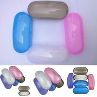 Portable Clear Transparent Shell Eye Glasses Hard Case plastic Box Protector Box