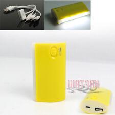 5200MAH EXTERNAL BATTERY CHARGER MICRO USB YELLOW IPHONE 5 4S 4 IPOD IPAD MINI