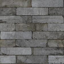 Rasch Factory PIETRA motivo mattone finto effetto Carta da parati grigio scuro