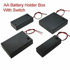 Battery Holder Box Storage Case With Switch AA 1.5V 3V 4.5V 6V 1 2 3 4 Slots