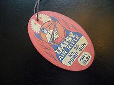 No. 25 Air Rifle BB Pump Gun - RED Repro Hang Tag - Happy Daisy Boy- Plymouth MI