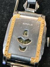 Rare 1930s Benrus Vintage Digital Jump Hour Mens Watch –Overhauled Runs Perfect