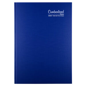 Cumberland 2020 Premium Business Diary Day to Page 15 Minutes A4 Blue 41PCBL20