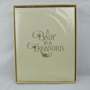 Vintage Hallmark Photo Album Baby Treasure Pictures Keepsakes Memories #ALB230-6