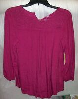 WOMENS ST JOHNS BAY 3/4 SLEEVE TOPS MULTIPLE COLORS MULTIPLE SIZES NEW WITH TAGS