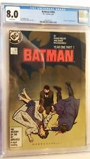 BATMAN # 404 CGC 8.0 Year One Frank Miller story DC 1987 WHITE PAGES
