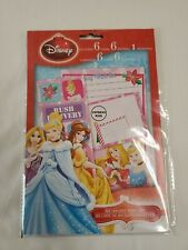 "Disney Princess ""My Wish List"" Stationery Set (Letters, Envelopes & Stickers) BN"