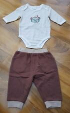 Nursery time Boys body&Trousers Set Daddy's Little Genius. 0-3 months. BRAND NEW