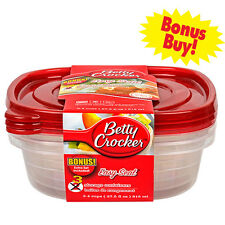 Betty Crocker 3-ct. Packs Plastic Sandwich Containers with Lids Free Shipping