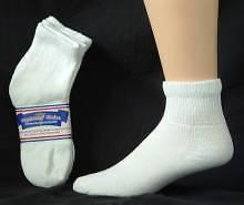 Womens White Diabetic Quarter Socks Size 9-11  12 Pr.