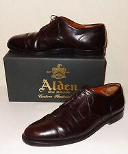 $700 ALDEN Shell Cordovan leather 2160 Blood Maroon Cap Toe Dress Shoes 13 B/D